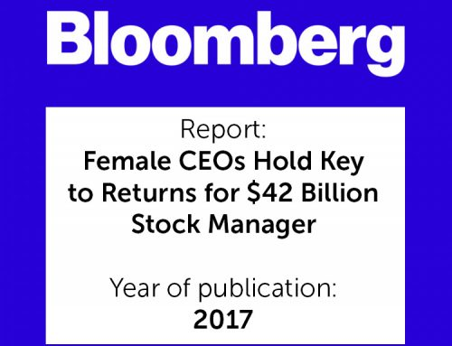 """It is difficult to say exactly why having women at the helm of a company resulted in higher returns"""